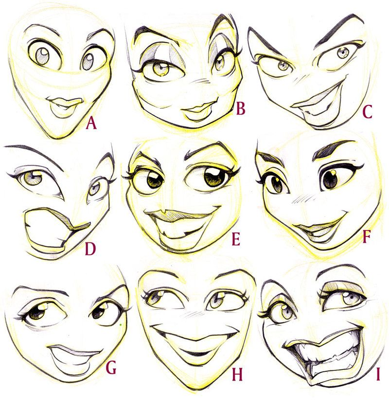 caricature facial features
