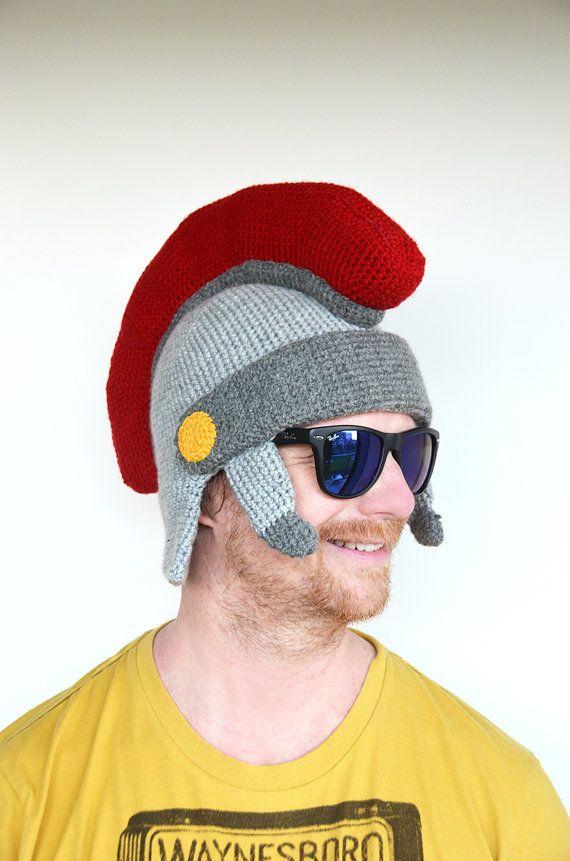 Roman Helmet Crochet Pattern Roman Helmet Pattern Gladiator Helmet