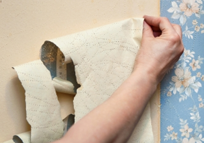 Easy Peeling Affordable, Natural Wallpaper Removal