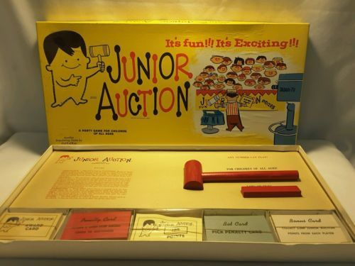 Junior Auction 1954 Very Rare Board Game