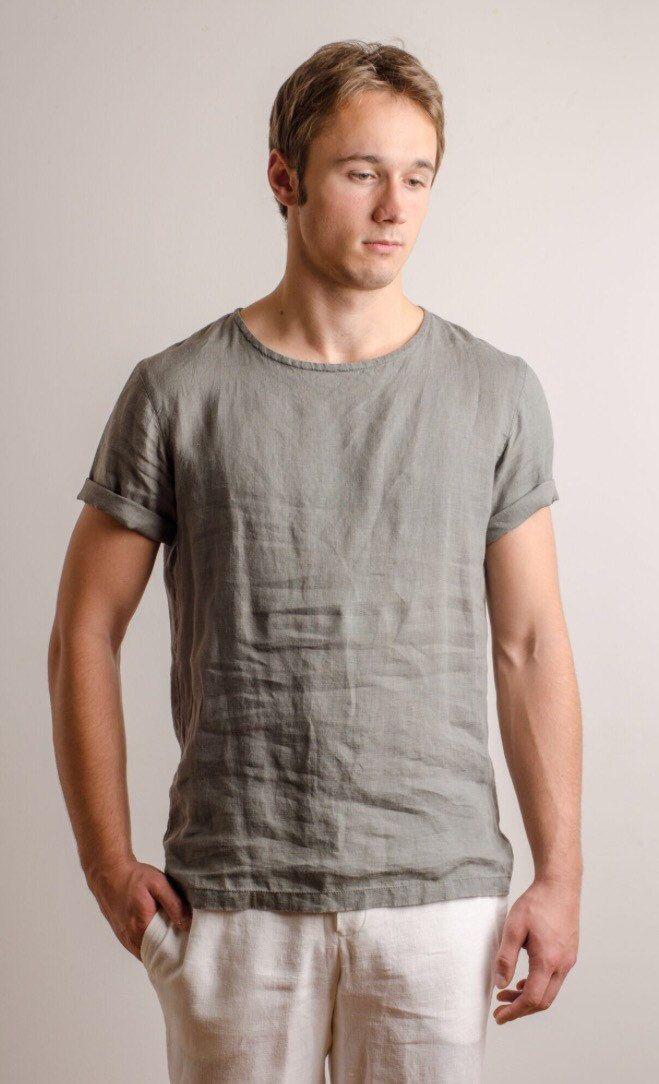 Comfort Color Linen T Shirts For Men Linen Shirt Men Mens Shirts Mens Tshirts