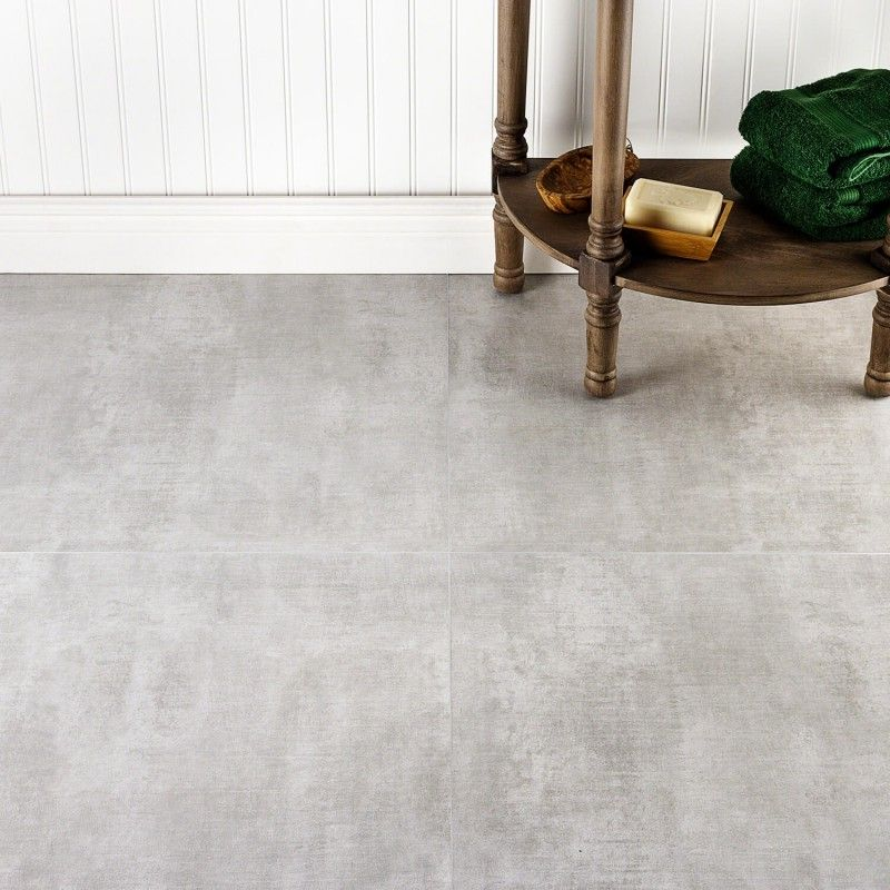24x24 Home Addition: Basic Cement Silver 24x24 Matte Porcelain Tile In 2020