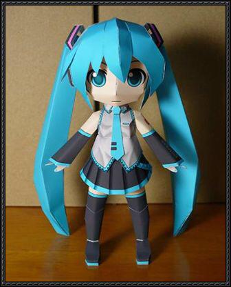 Vocaloid Chibi Hatsune Miku Free Doll Papercraft