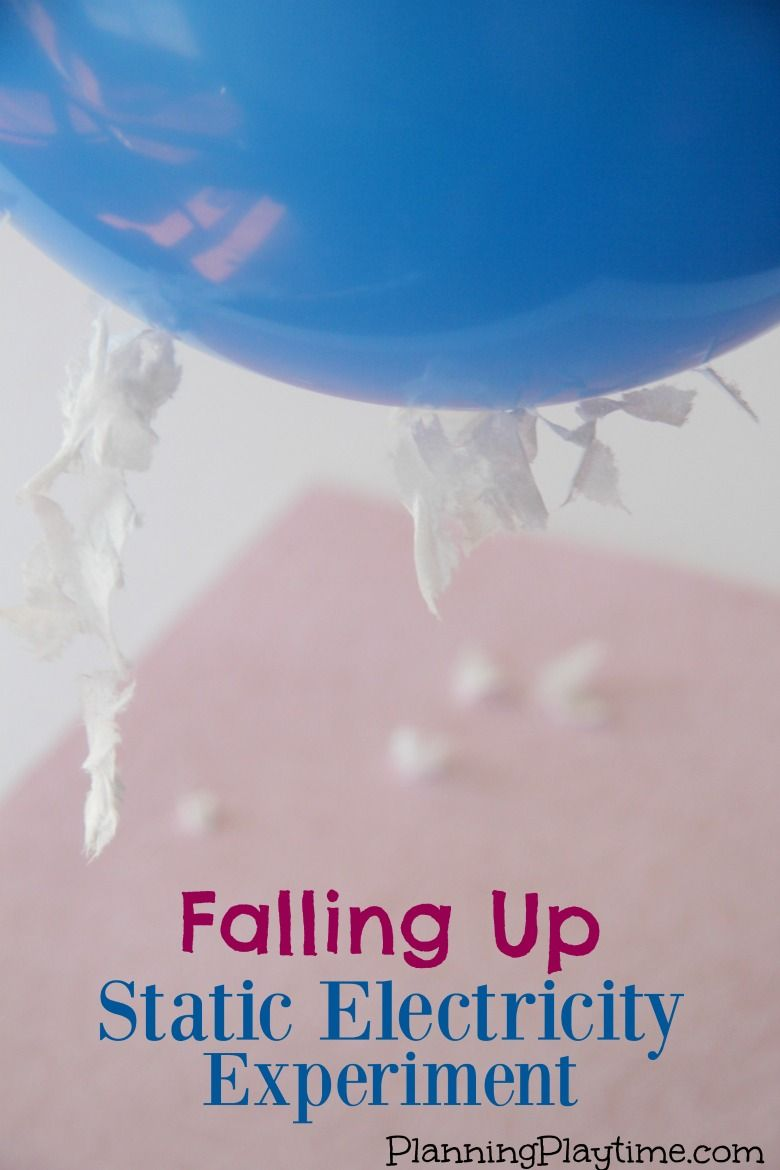 Static Electricity Science Experiment For Kids Falling Up My Electrical Circuit Project