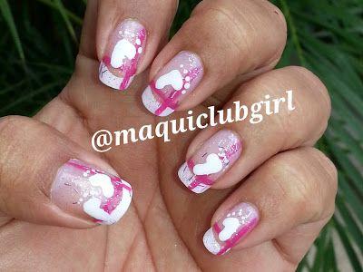 Maquiclub Girl Baby Girl Nail Art Manicura Para La Llegada De Un