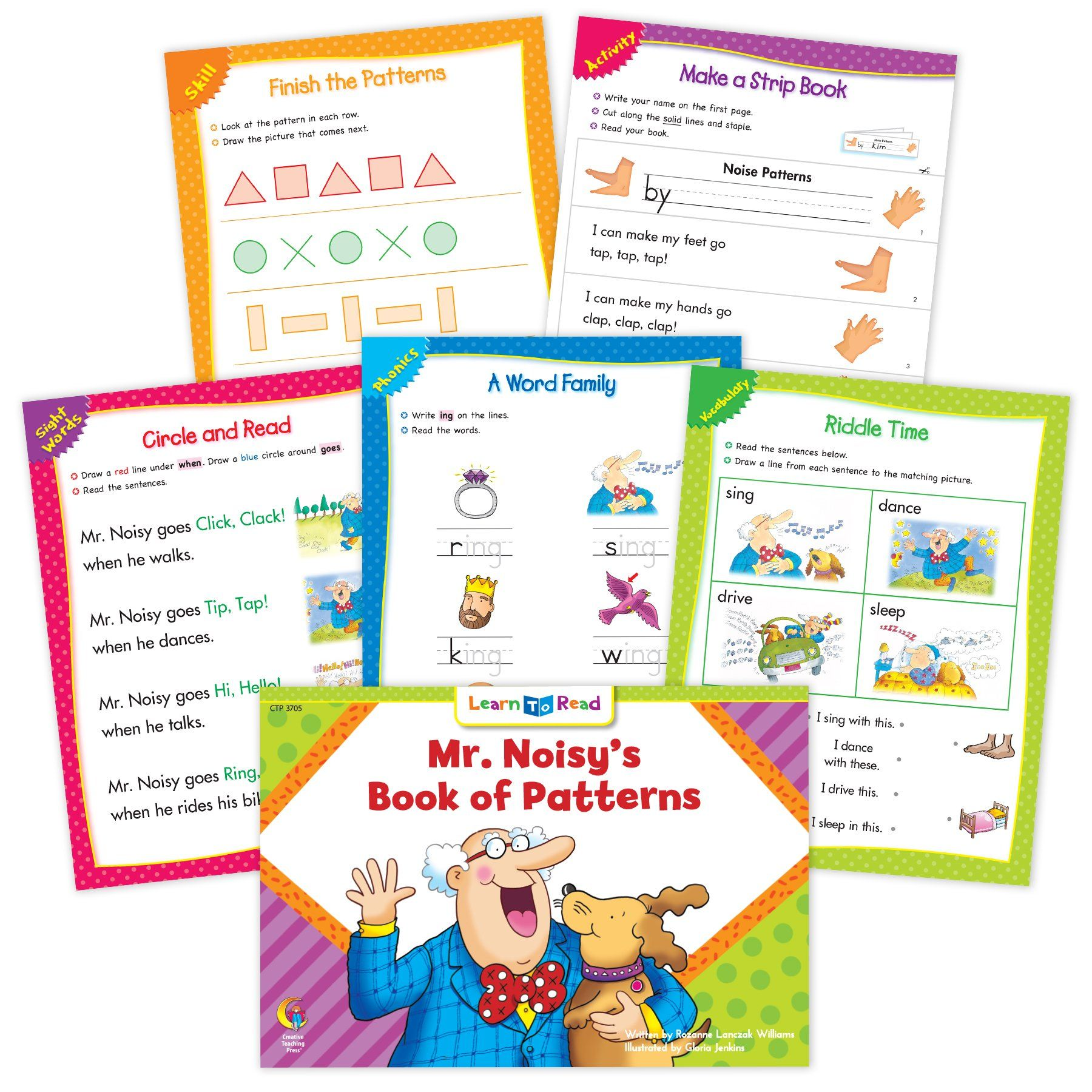 Mr Noisy S Book Of Patterns Ebook Amp Worksheets In