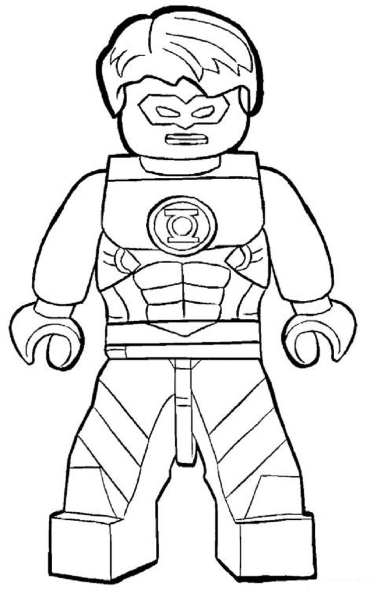lego green lantern coloring pages | Coloring Pages For ...