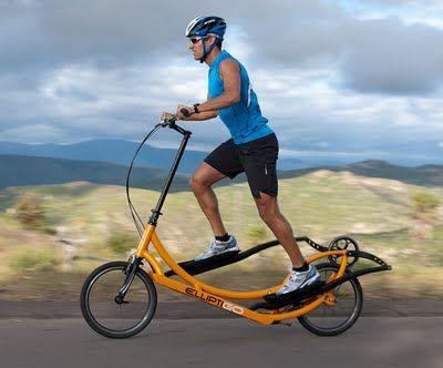 The Elliptigo World S 1st Elliptical Bike Looks Like Fun No Equipment Workout Bicycle Elliptical Workout