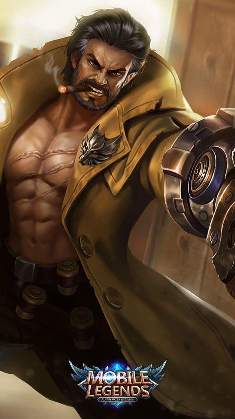 mobile legends wallpaper roger wolf