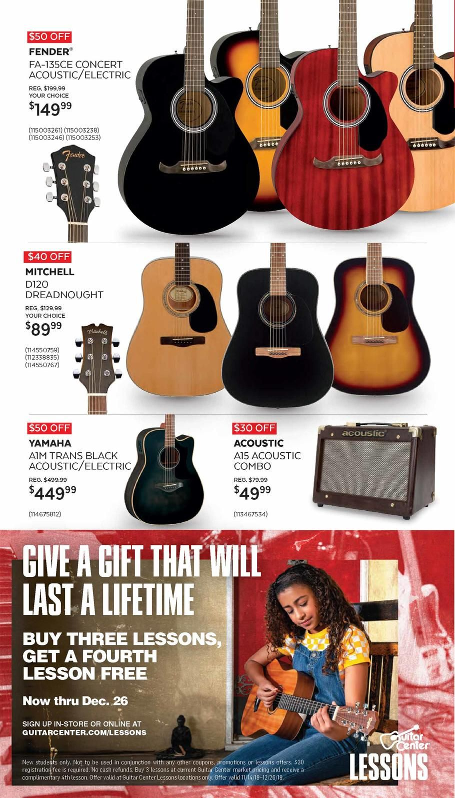 Guitar Center Black Friday Ad Scan Deals And Sales 2019 Guitar Center Guitar Black Friday Ads