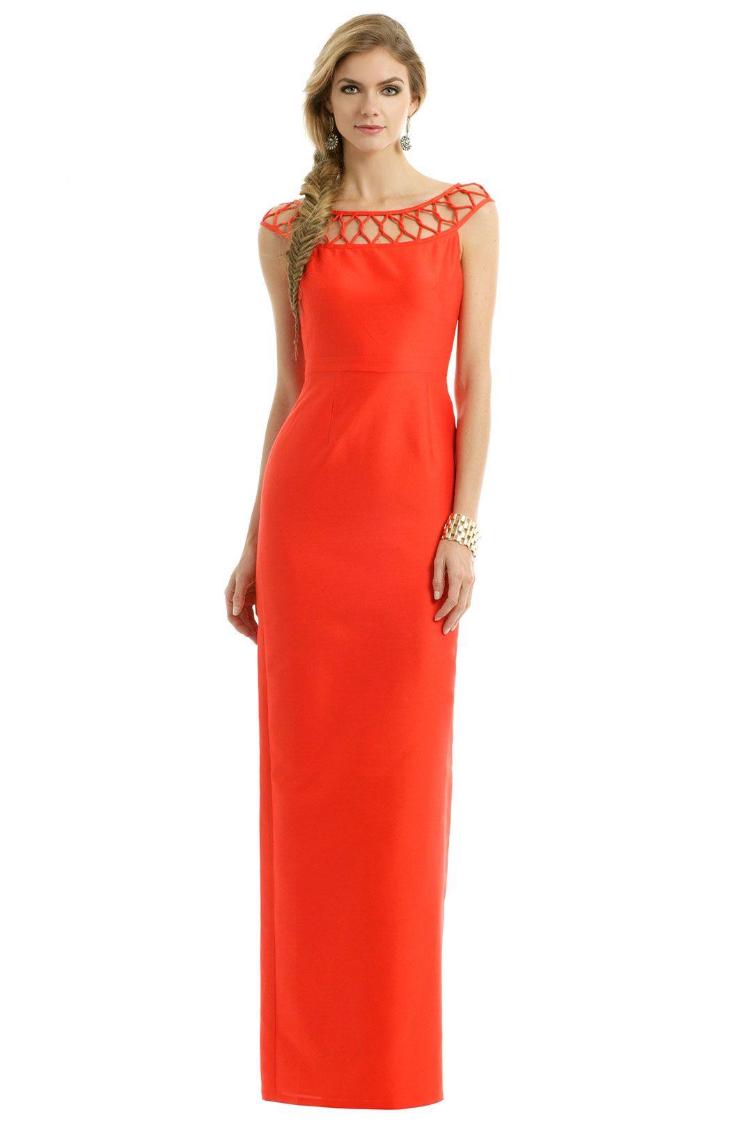 Raoul Citrus Cherry Twist Gown Dresses Gowns Floor Length Wedding Dress
