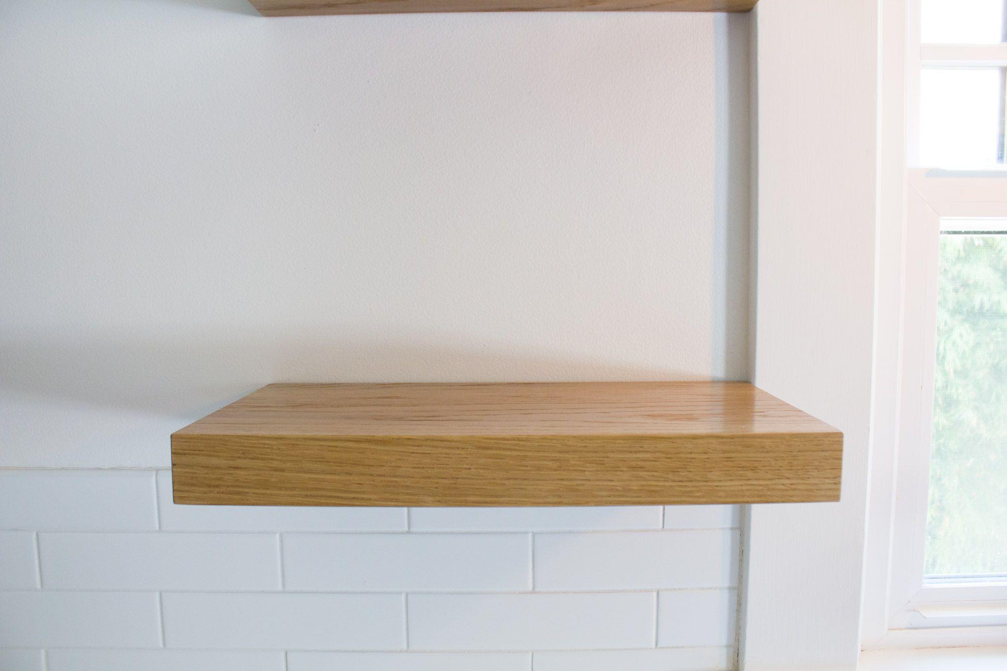White Oak Floating Shelves