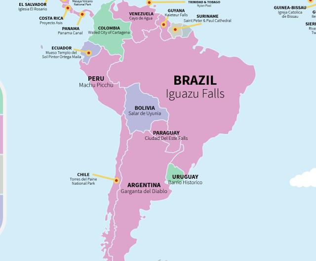 Este mapa muestra la atraccin turstica ms visitada de cada pas los usuarios de trip advisor han hablado gumiabroncs Image collections