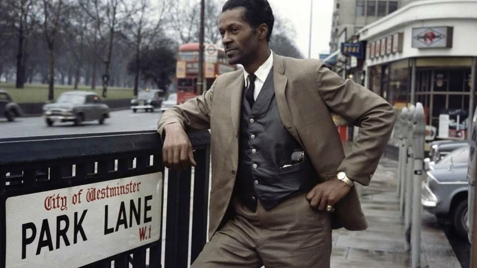 Chuck Berry on his first tour of the UK.