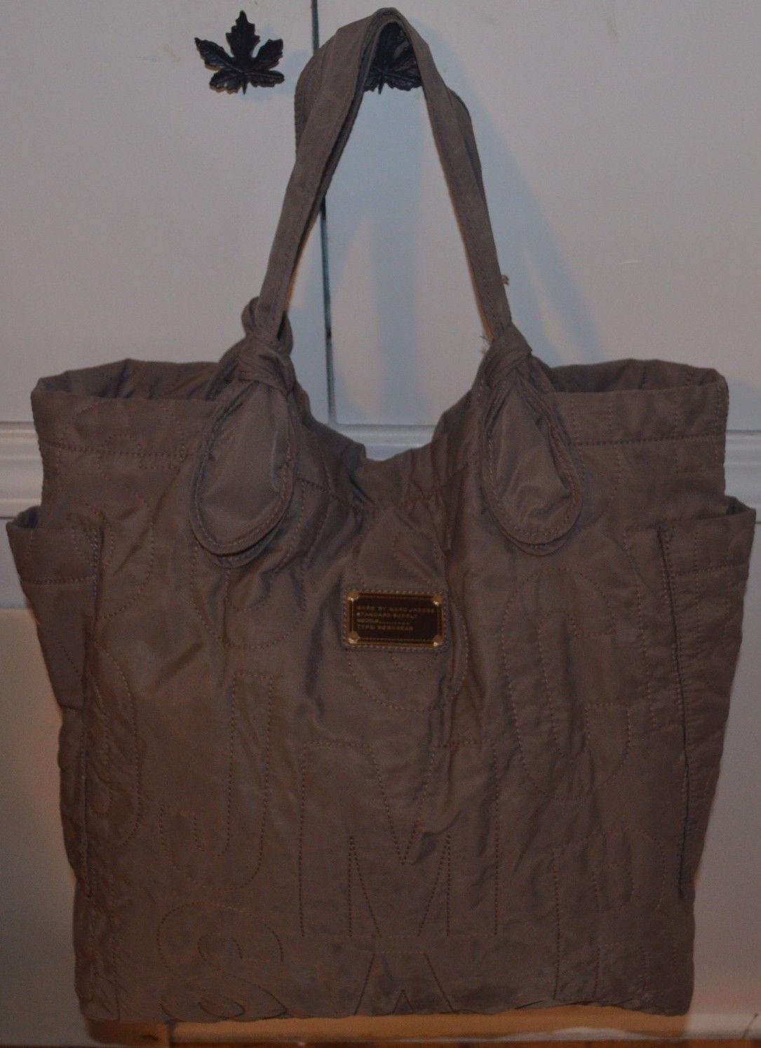 2b11e975b2 MARC BY MARC JACOBS Pretty Nylon Tate Tote Quartz Grey Large Shopper Carry  Bag