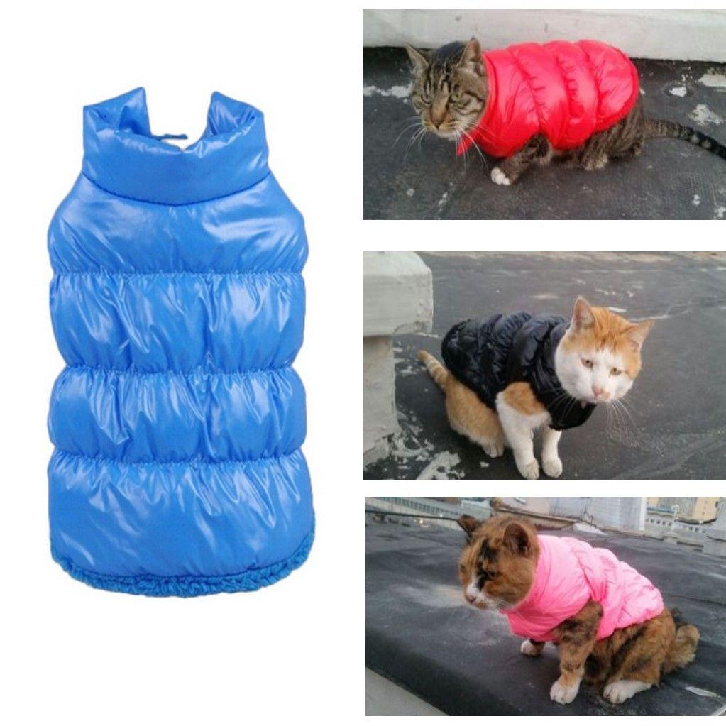 Various Color Warm Winter Cat clothes Pet Cat Parkas Overcoat
