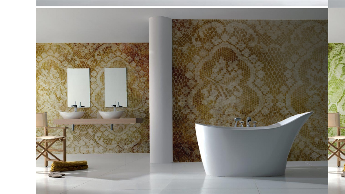 Vinyl In Badkamer : Pvc behang voor de badkamer bathroom pinterest