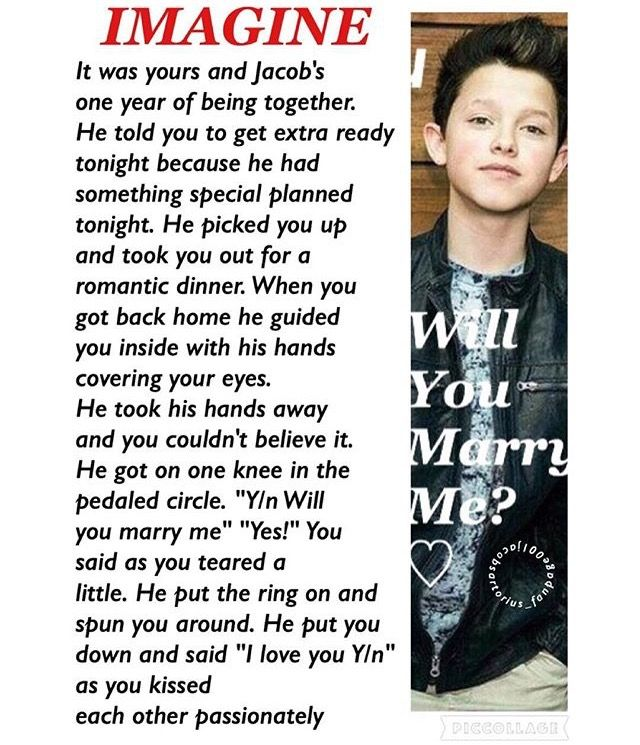 Omg yes yes Jacob I love you we are getting married
