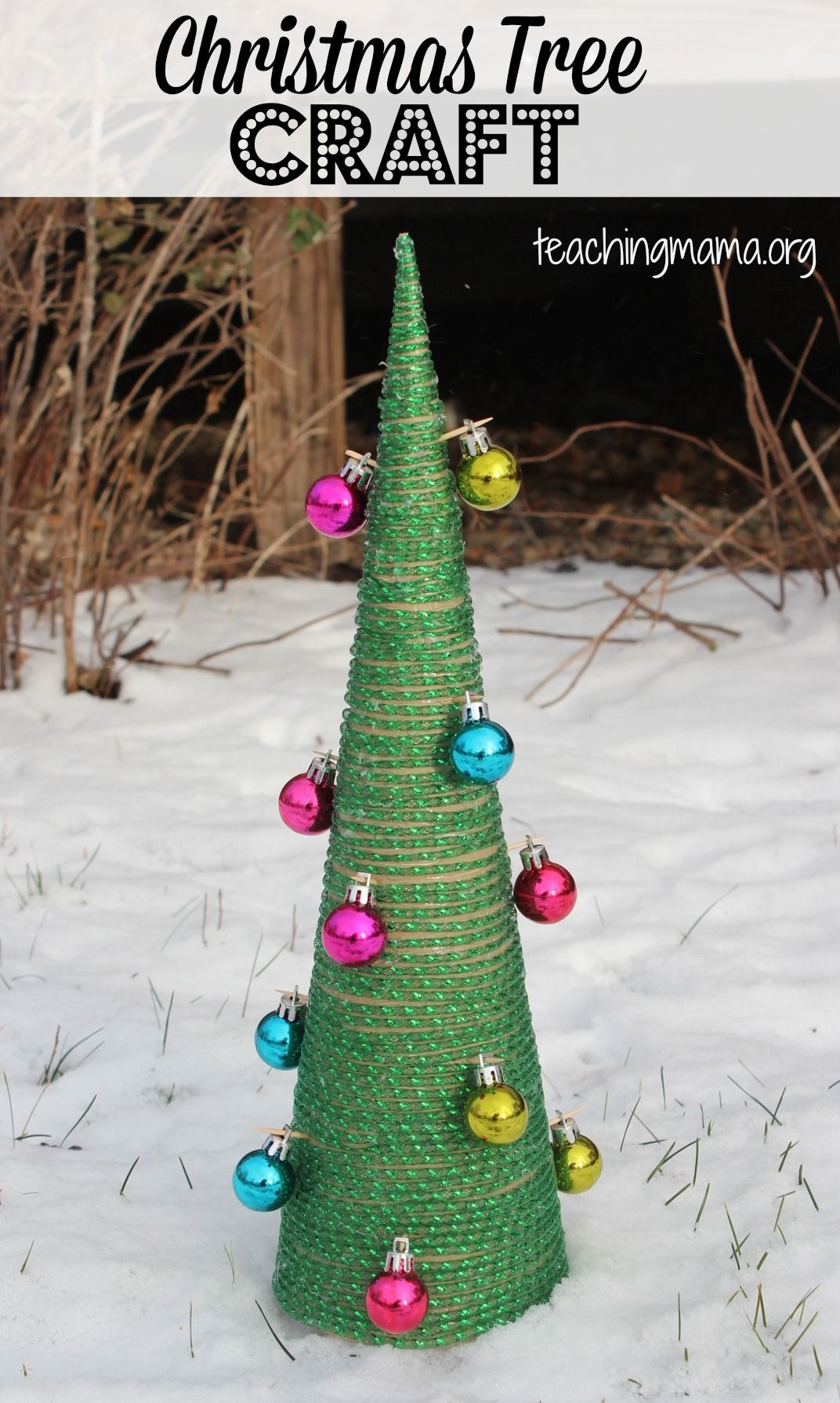 Christmas Tree Craft Christmas Tree Crafts Tree Crafts Diy Christmas Tree Ornaments