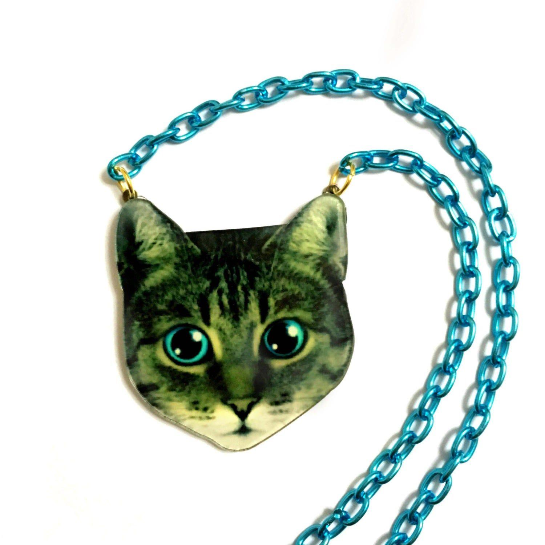 Cat Necklace, Acrylic, plastic, collar necklace, Statement