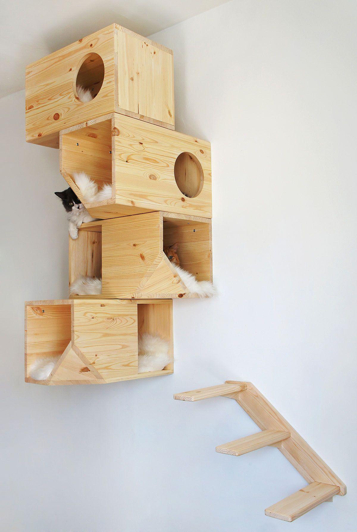 Arbre A Chat Mural Design modern arkitektur för katter | cat furniture, cat tree, decor