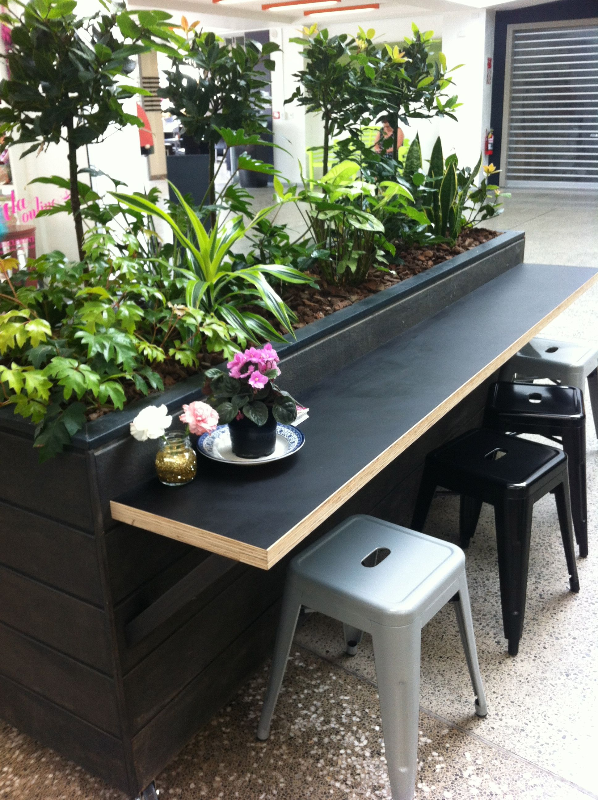 Planter Box With Counter Space Planter Boxes Meeting Room Planters