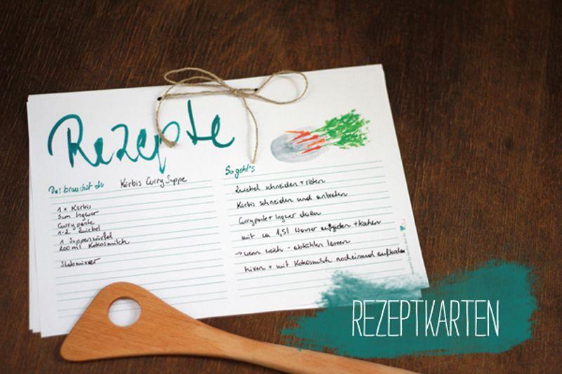 freebies food kitchen illu rezeptkarten ausdrucken und vorlagen. Black Bedroom Furniture Sets. Home Design Ideas