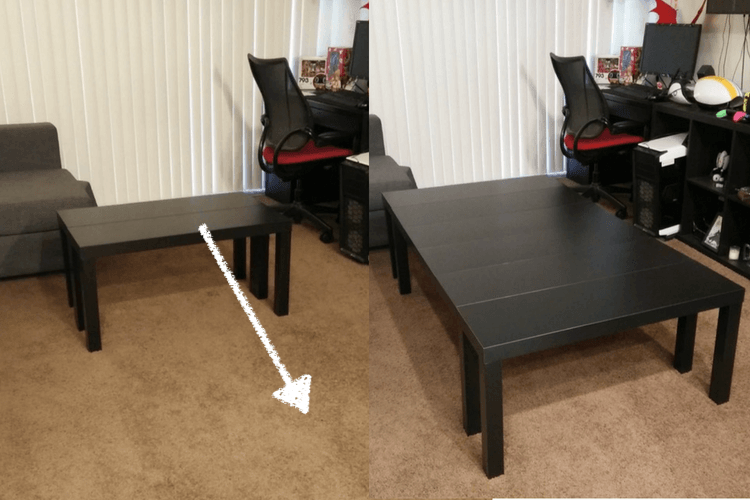 Board Game Table Made From Tv Units And It S Extendable Board