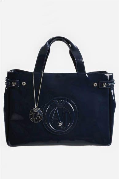Armani Jeans Torebka Lakierowana Nowa Czarna 3717267808 Oficjalne Archiwum Allegro Bags Gym Bag Top Handle Bag