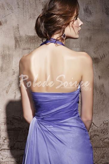 Applique Halter A-ligne de robe de soirée à volants Tencel [RDS1302040086] - €241.79 : Robe de Soirée Pas Cher,Robe de Cocktail Pas Cher,Robe de Mariage,Robe de Soirée Cocktail.
