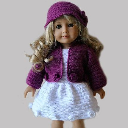 Instant Download Pdf Crochet Pattern 18 Ag Doll Clothes 24
