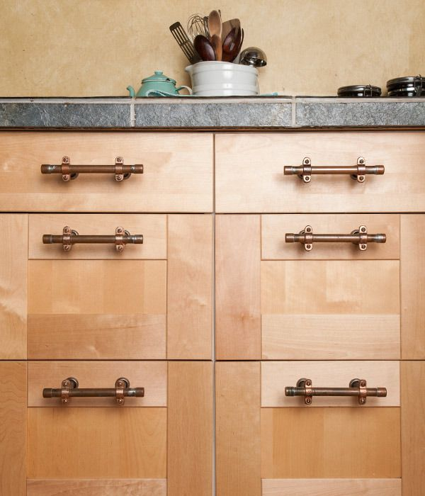 Copper Pipe Drawer Pull Bath Copper Cabinet Pulls