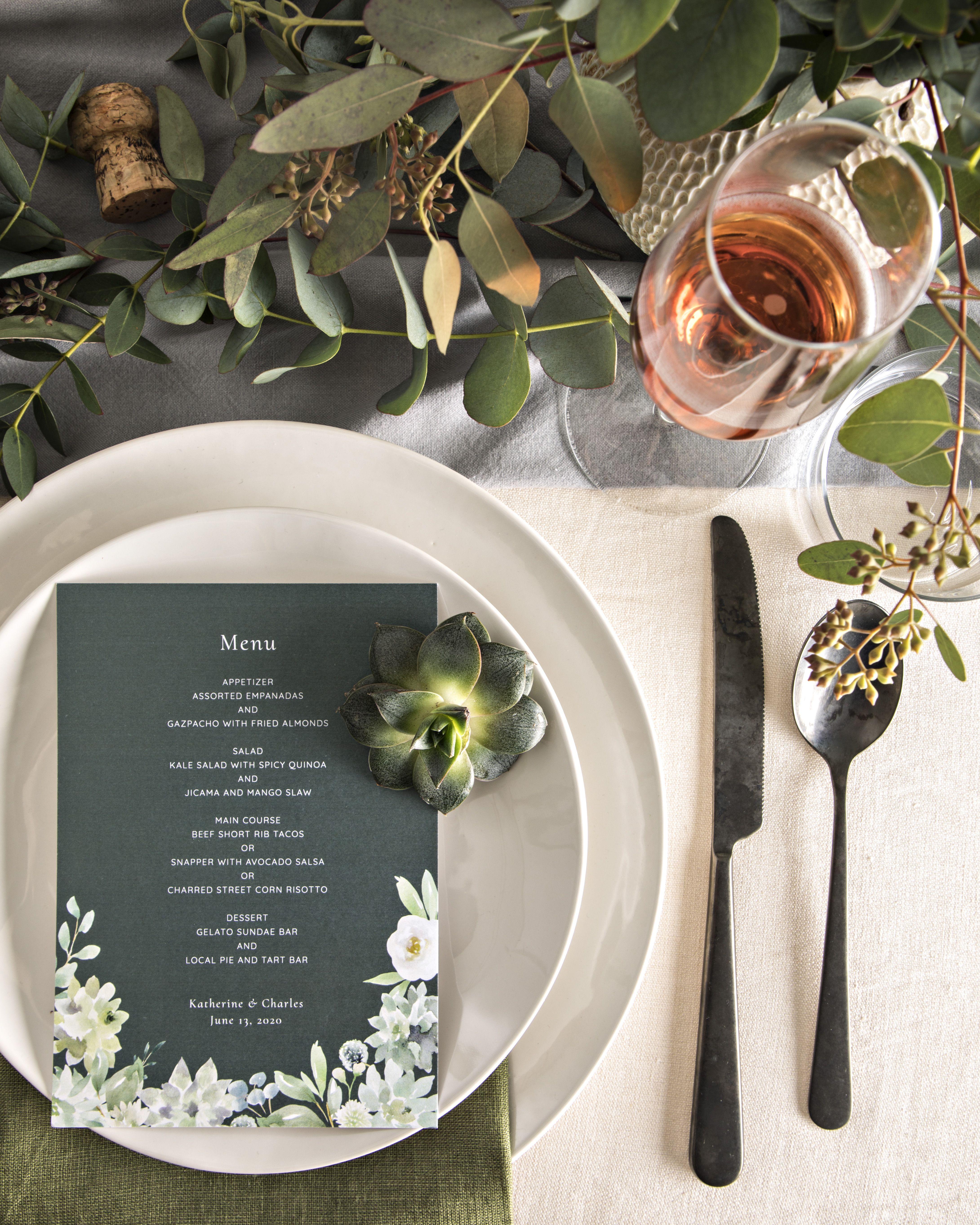 A Guide to Wedding Menu Cards Wedding menu cards, Menu