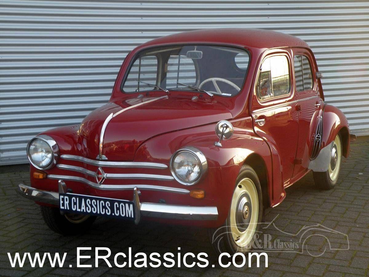 1960 Renault 4cv Burgundy Red Engine Revised Very Good Con For Sale 1714980 Renault Renault 4 Car