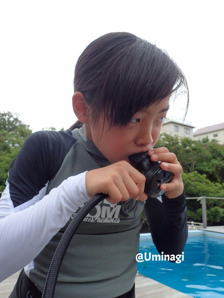 初めてのレギュレーター呼吸 スキューバ レギュレーター ダイビング