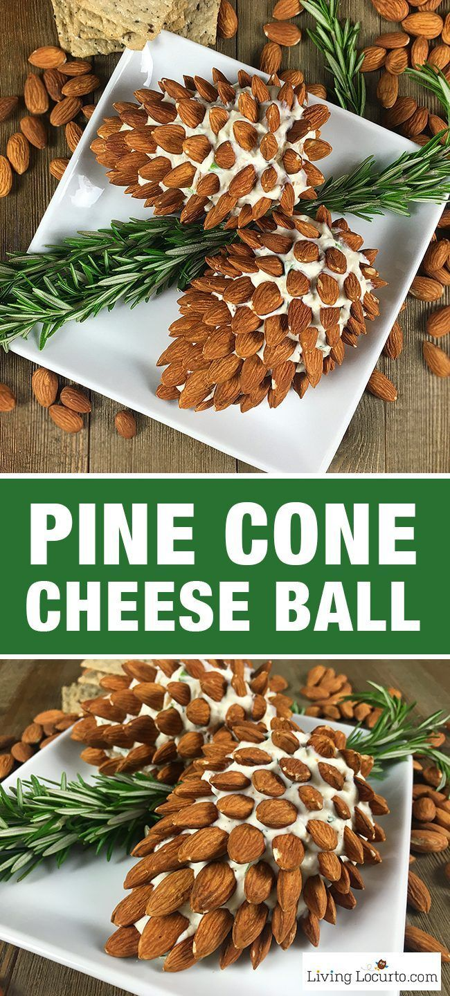 Easy Christmas Party Appetizers Ideas Part - 20: Pine Cone Cheese Ball Appetizer With Almonds. Fun And Easy Christmas Party  Appetizer For The