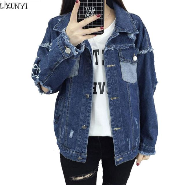 21fc45d9ea6 Denim · Special offer Womens Spring jackets Preppy Fashion Letter Print ...