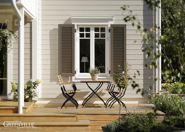 GRV 17081 Hausfassade, Anbau gartenhaus, Haus außen