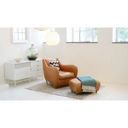 Balzac Armchair & Footstool | Armchair, Home decor, Upholstery