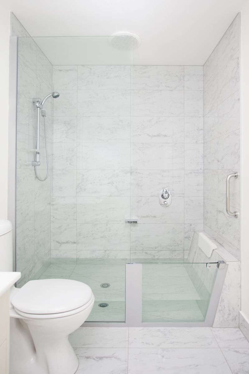 I Love This A Shower That Turns Into A Bath I Need This In My Ensuite Simple Bathroom Remodel Small