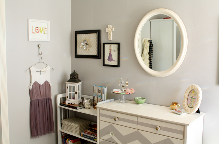 What I Learned In College Creating A Home Away From Home Love The Chevron On The Dresser