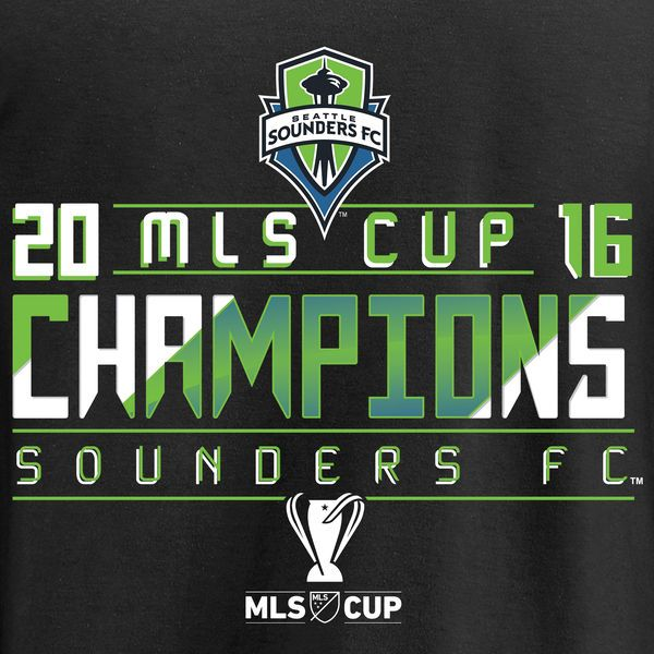 be578039ec7e Men s Seattle Sounders FC Fanatics Branded Black 2016 MLS Cup Champions Big    Tall Thirds Pullover Hoodie - MLSStore.com
