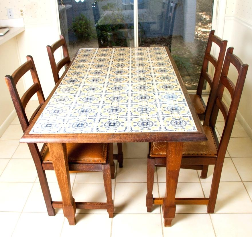 Making A Tile Table Top For Outdoors Google Search Dining Room Table Makeover Tile Tables Top Kitchen Table
