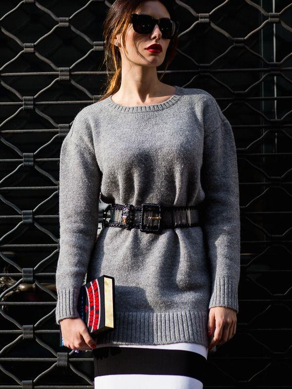 belted knit. #LiseGrendene in Milan.