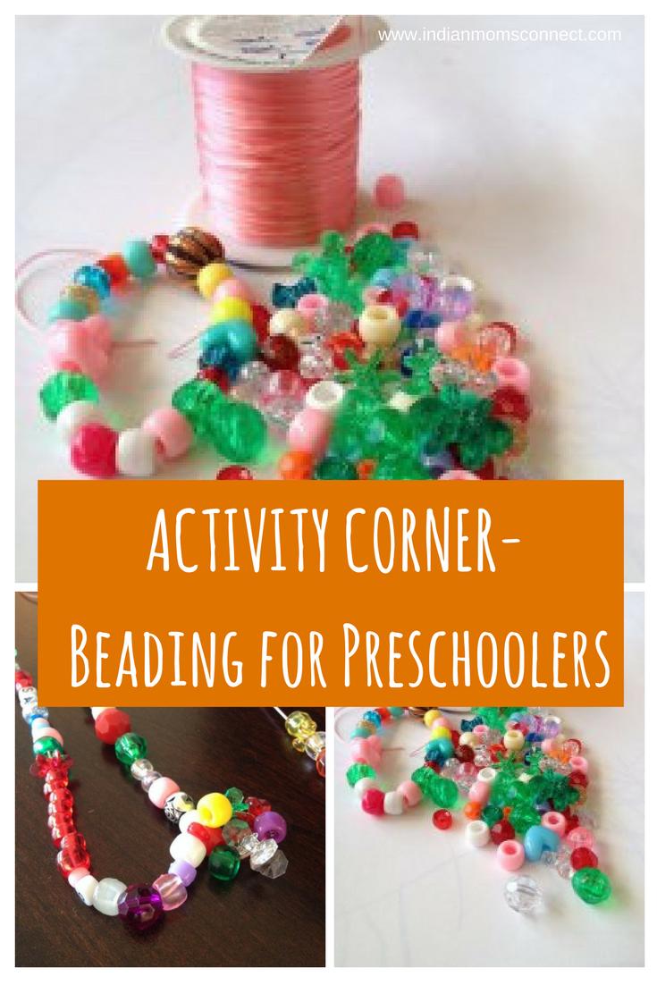 Activity Corner Idea Beading for Preschoolers Child