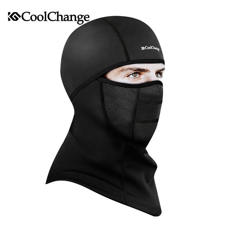 CoolChange Winter Cycling Face Mask Cap Ski Bike Mask Face Thermal Fleece  Snowboard Shield Hat Cold Headwear Bicycle Face Mask dcb62d47f