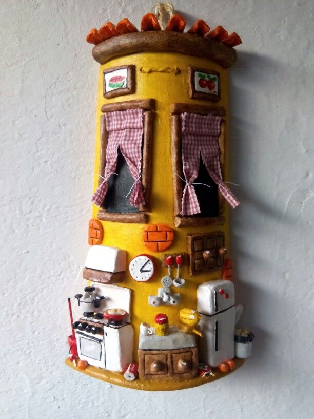Teja decorada cocina tejas decoradas pinterest tejidos cocinas y decorar tejas - Accesorios para decorar tejas ...