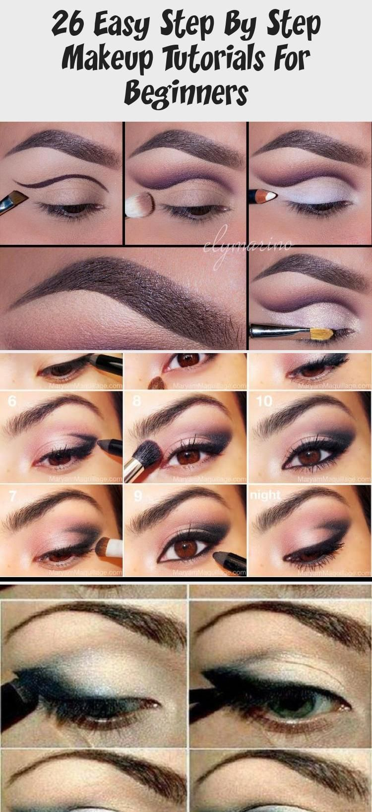 26 Easy Step By Step Makeup Tutorials For Beginners Best Makeup Beginners Easy Makeu In 2020 Easy Eye Makeup Tutorial Makeup Tutorial For Beginners Makeup Tutorial