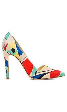 Alice + Olivia Dina Color Block Heel in Multi