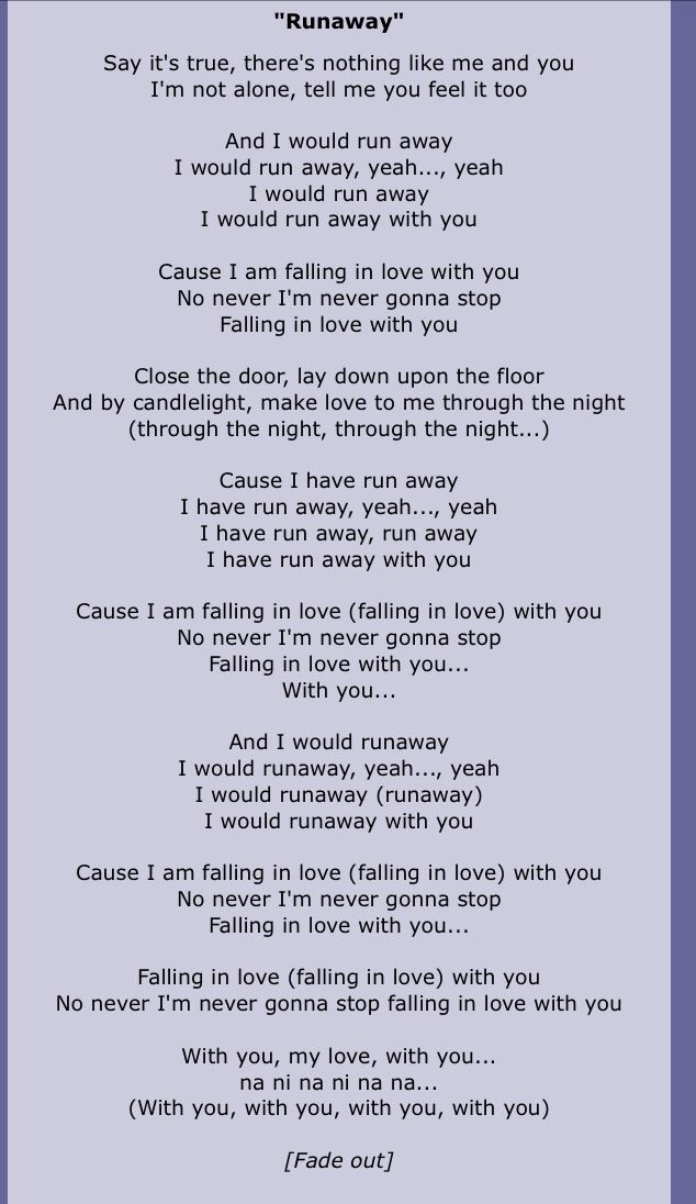 Lyric me & u lyrics : Say it's true There's nothing like me and you I'm not alone Tell ...